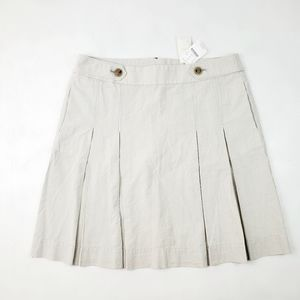 J.Crew NWT Highwaisted Striped Pleated Skirt Sz 10